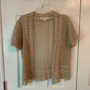 Michael Kors Knotted Crop Cardigan Sz S